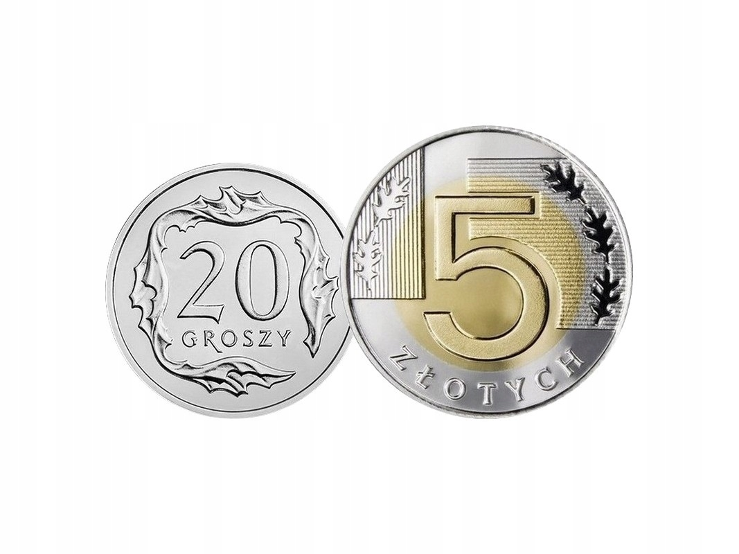 Komplet monet obiegowych 1996 r. UNC 2 sztuki