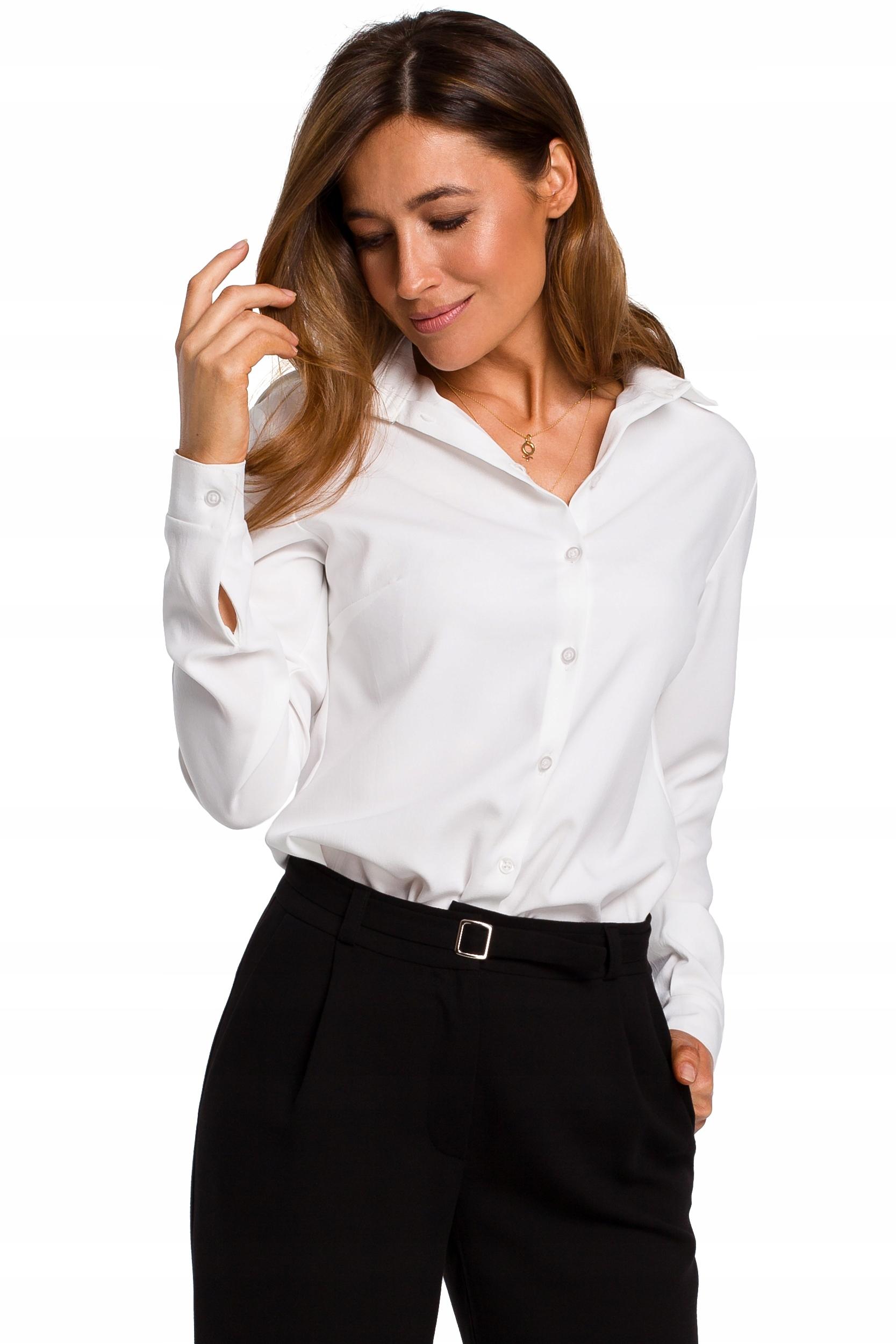 S192 Koszula klasyczna - biała 42 | XL