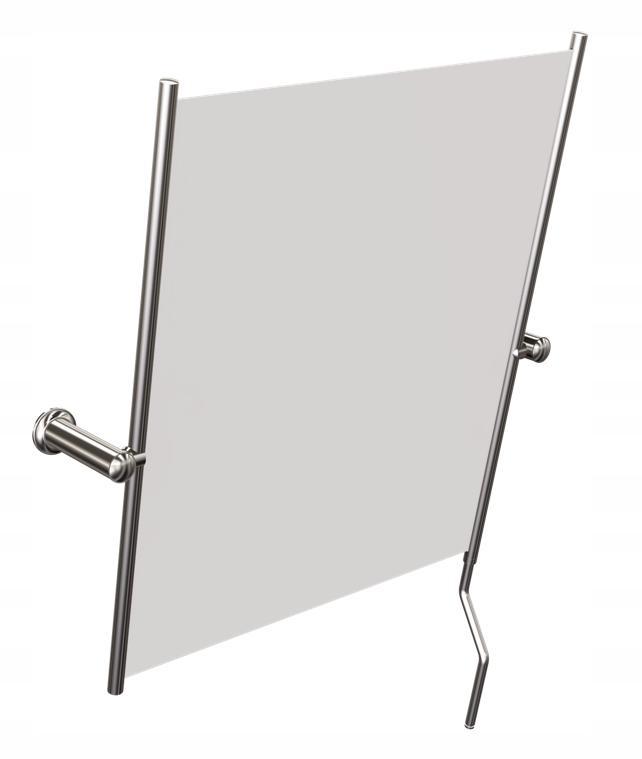 Zrkadlo pre kúpeľňa kúpeľňa s sklápacie rukoväť
