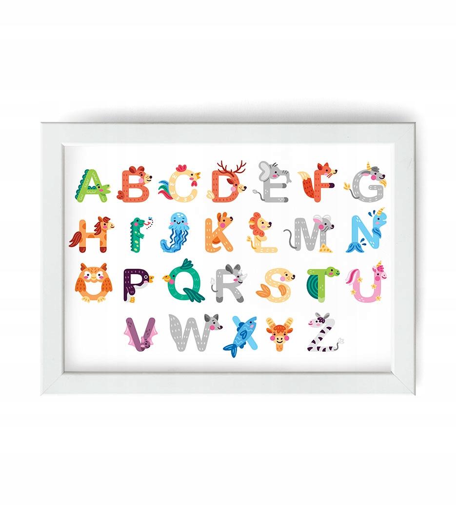 ОБРАЗОВАТЕЛЬНЫЙ плакат для детей буквами АЛФАВИТ 21х30
