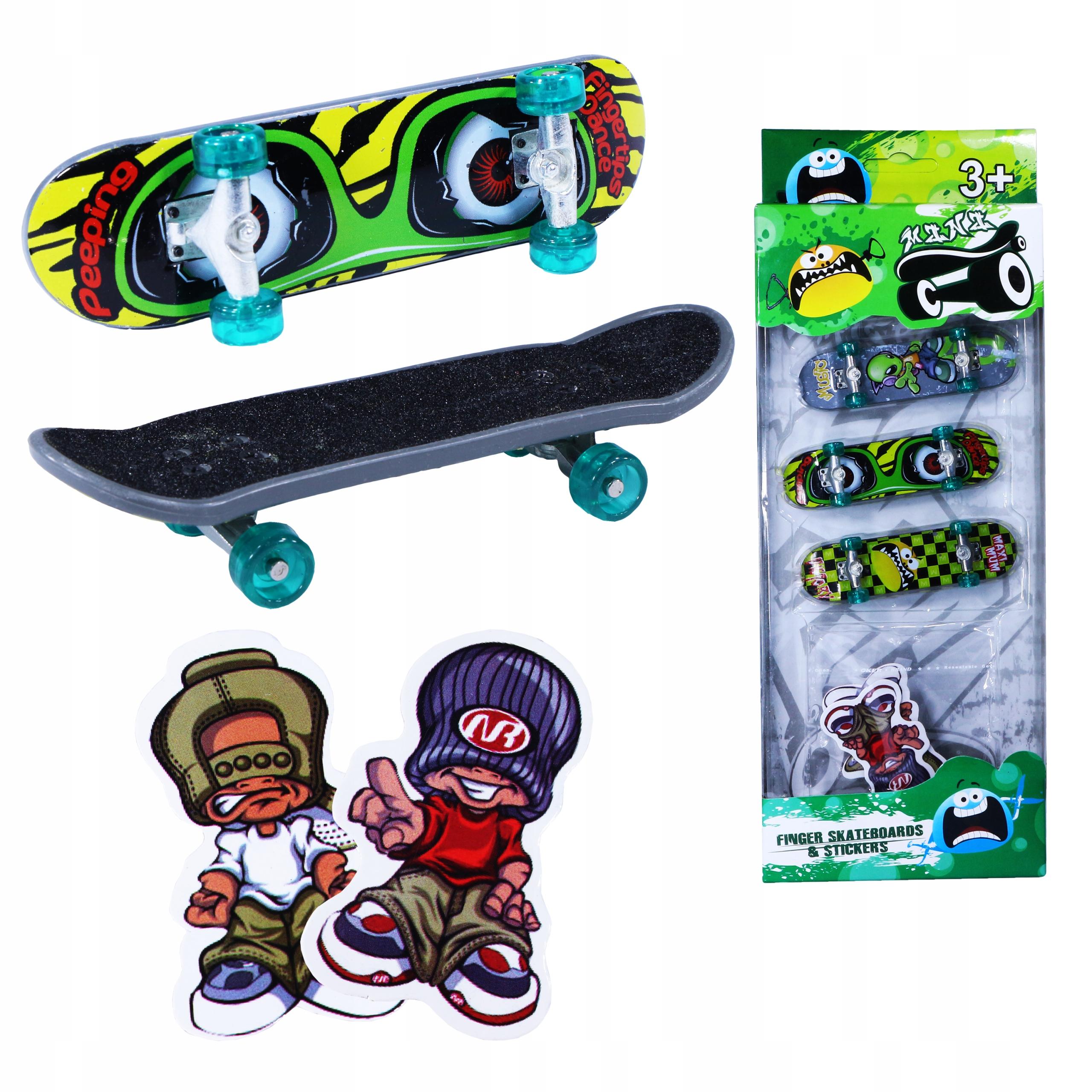 Набор Мини Скейтборд Fingerboard 3шт + бумажная Коробка