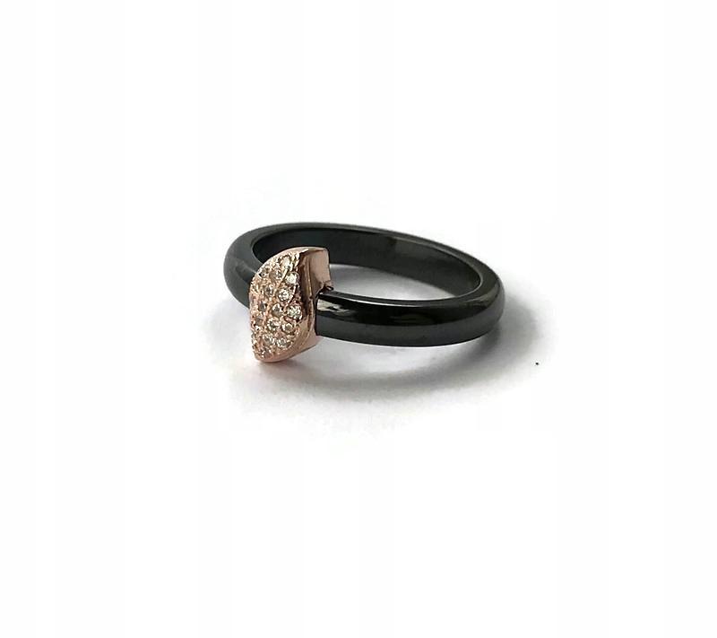 Srebro pozłocone Pierścionek ceramiczny rozmiar 12 9206078884 sCWVNGep