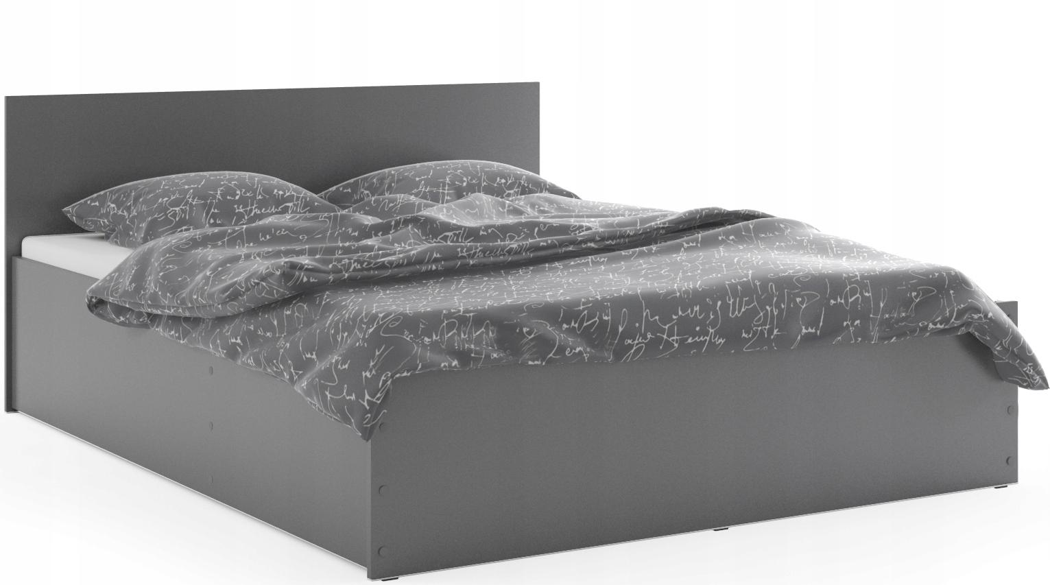 ПАНАМА Белый Серый Кровать 160х200 Матрас + Каркас