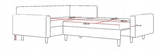 NAROŻNIK BELLA II FUNKCJA SPANIA BUTELKOWA ZIELEŃ Głębokość mebla 180 cm
