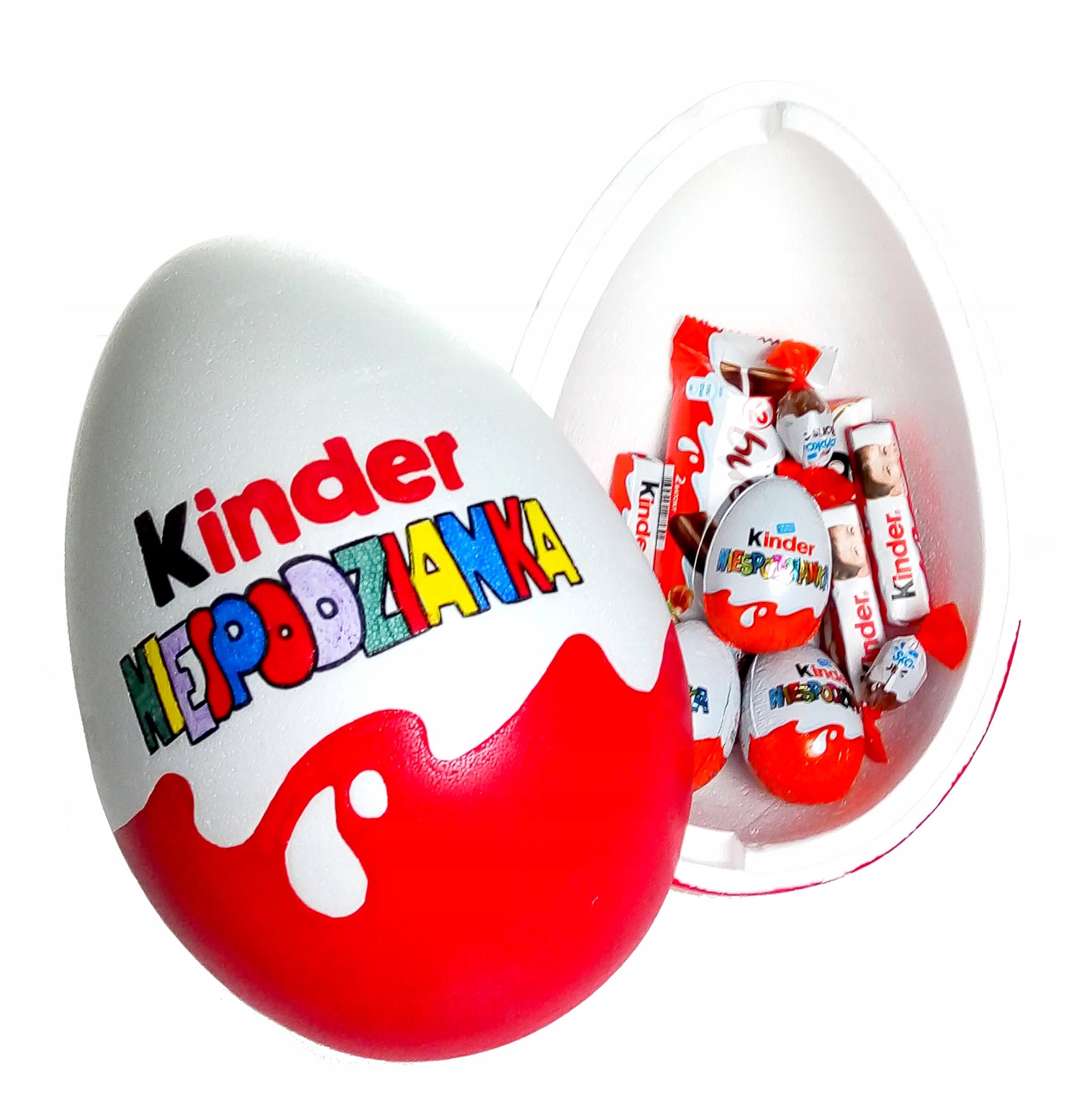 PK1E JAJKO NIESPODZIANKA XXL ze słodyczami kinder
