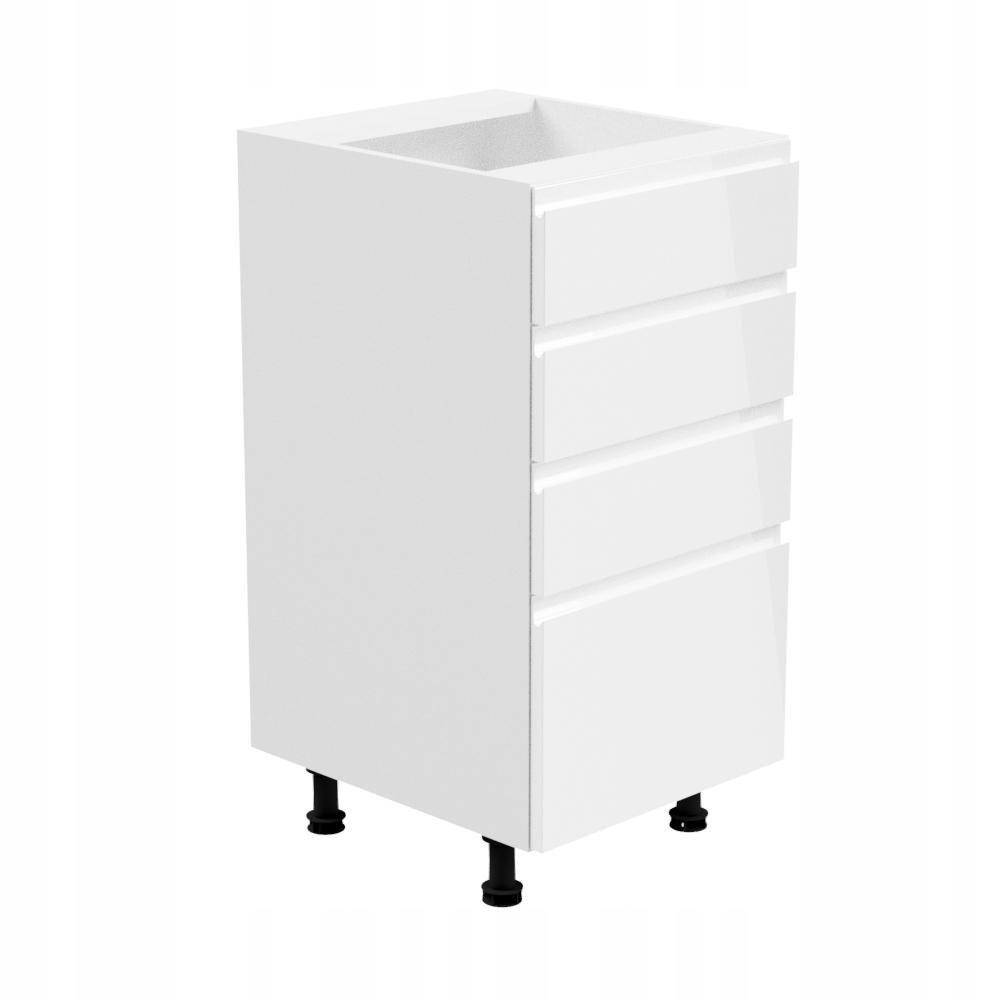 ASPEN D40S4 spodnej Skrinky so zásuvkami 40 biela