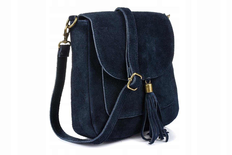 Kožená kabelka Dámska semišová retro poštárka
