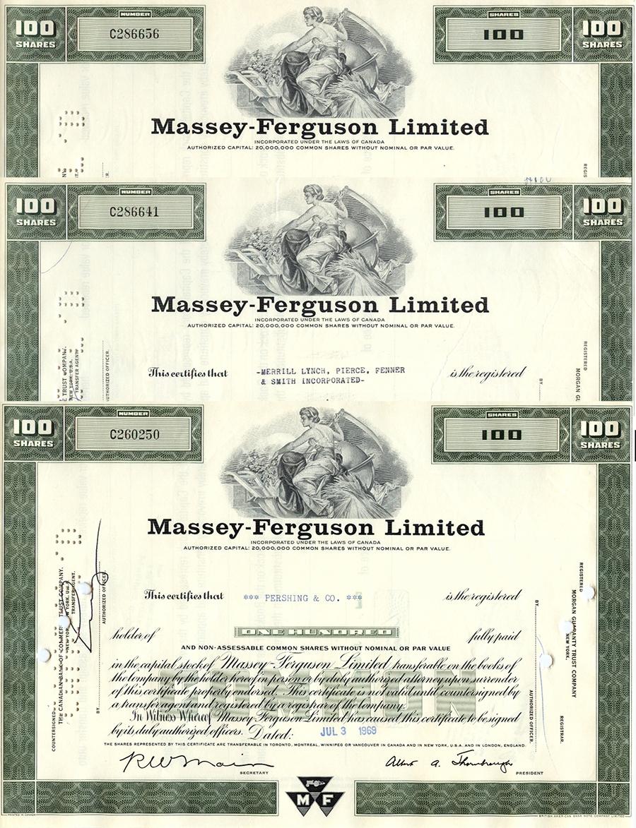 KANADA - Massey Ferguson - 3 akcje