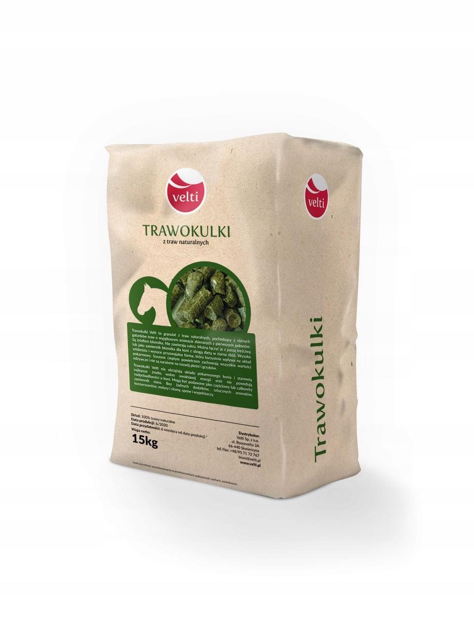 Trawokki Velti 30 кг Натуральные травяные гранулы