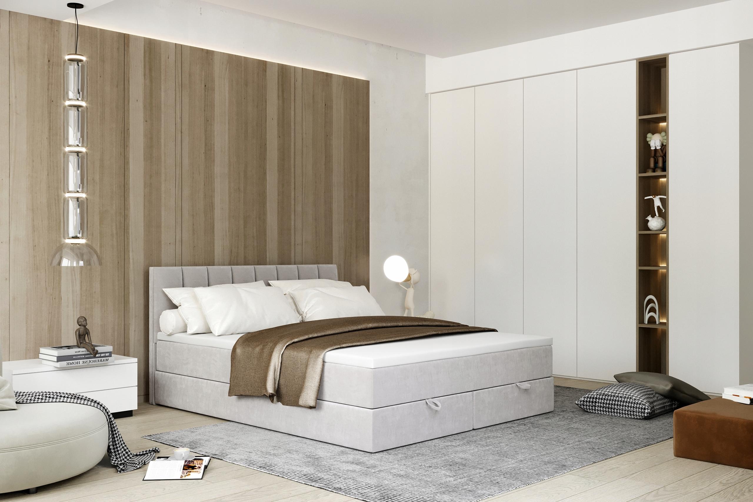 CITY континентальная кровать, обитая 120x200
