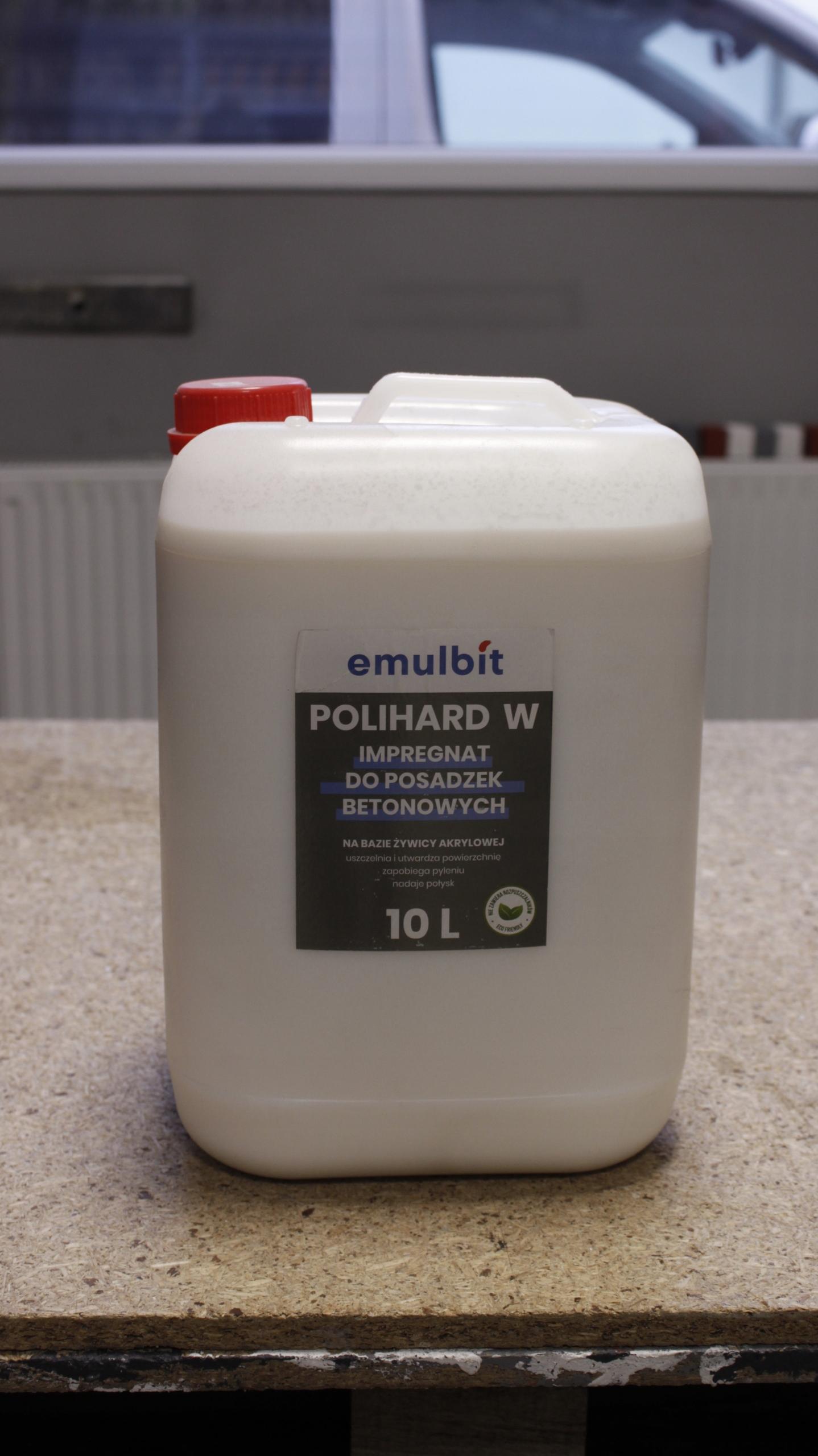 IMPREGNAT DO POSADZEK BETONOWYCH - POLIHARD W 10 l Kod produktu POLIHARD W