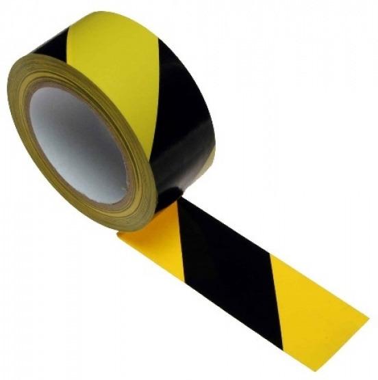 Предупреждая лента 100м желто-черный