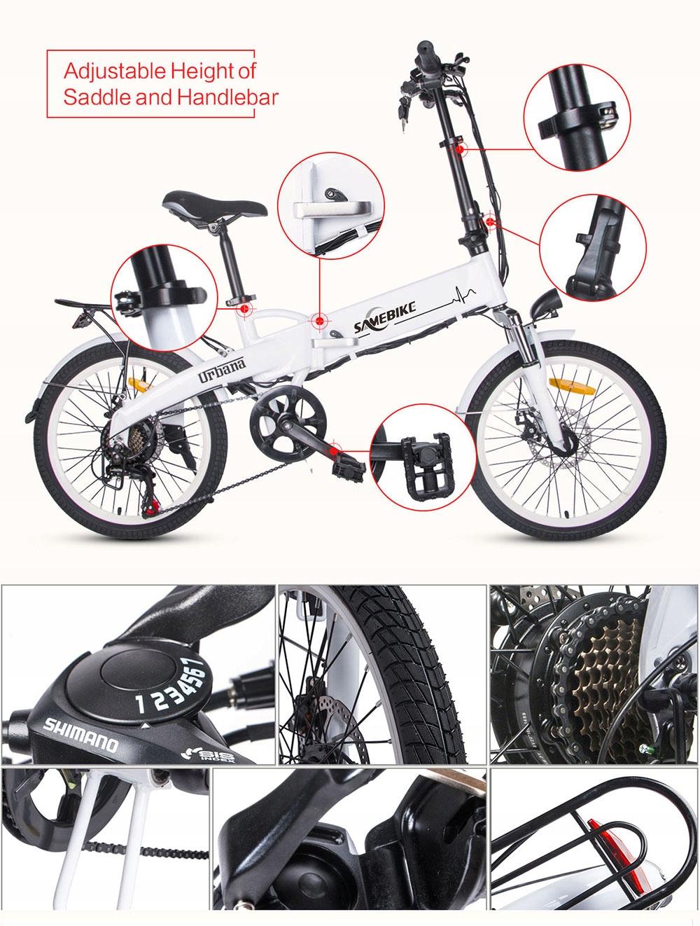 Samebike-JG20-Rower-elektryczny-250W-8Ah-Zasieg-70-km