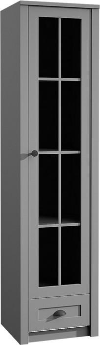 Витрина 1 дверная Прованс W1S серый / серый