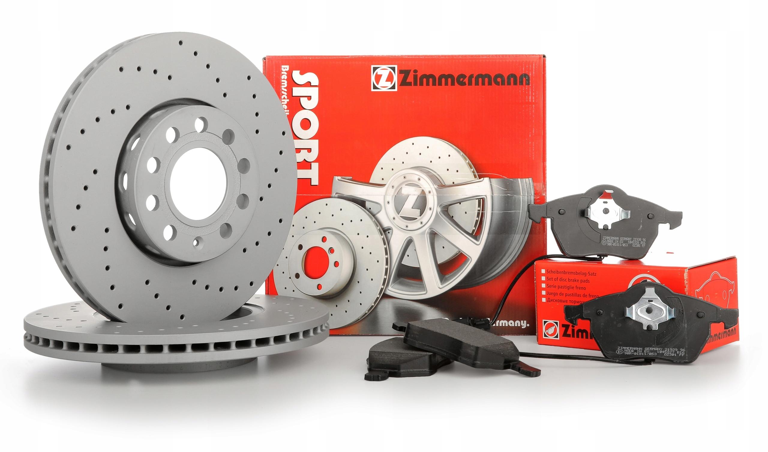 tarcze+klocki zimmermann спорт - audi a6 c5 312mm