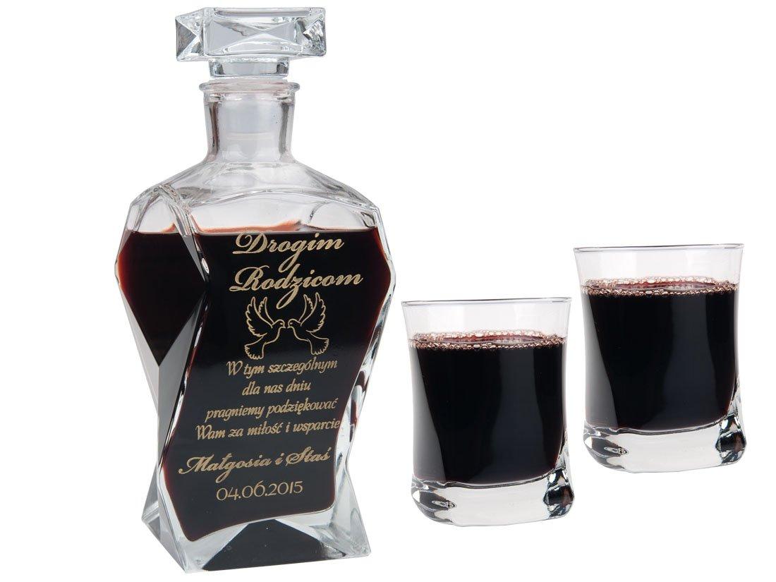 Carafe for Bachelor Party Glasses Engrin