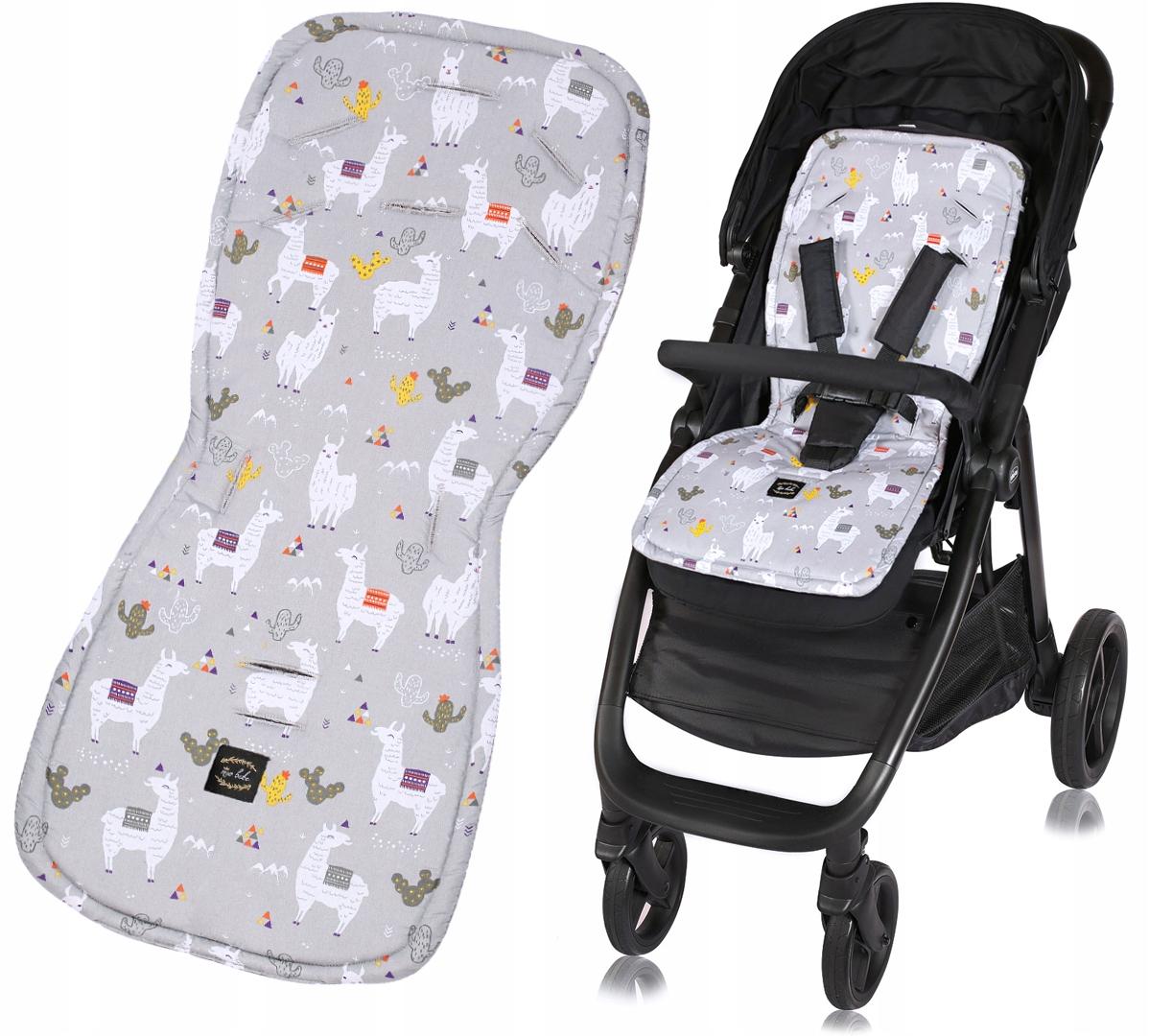 Mio Bebe wkładka BAWEŁNA do wózka SPACERÓWKI LAMA
