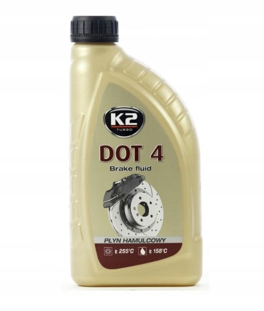 K2 DOT-4 DOT 4 ТОРМОЗНАЯ ЖИДКОСТЬ 1000 МЛ 0.5 Л