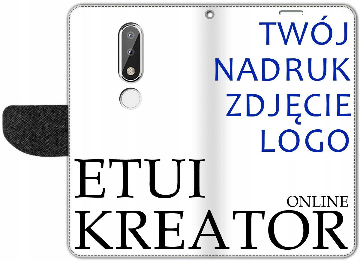 Etui Portfel Kreator Nadruk do Nokia 6.1 Plus