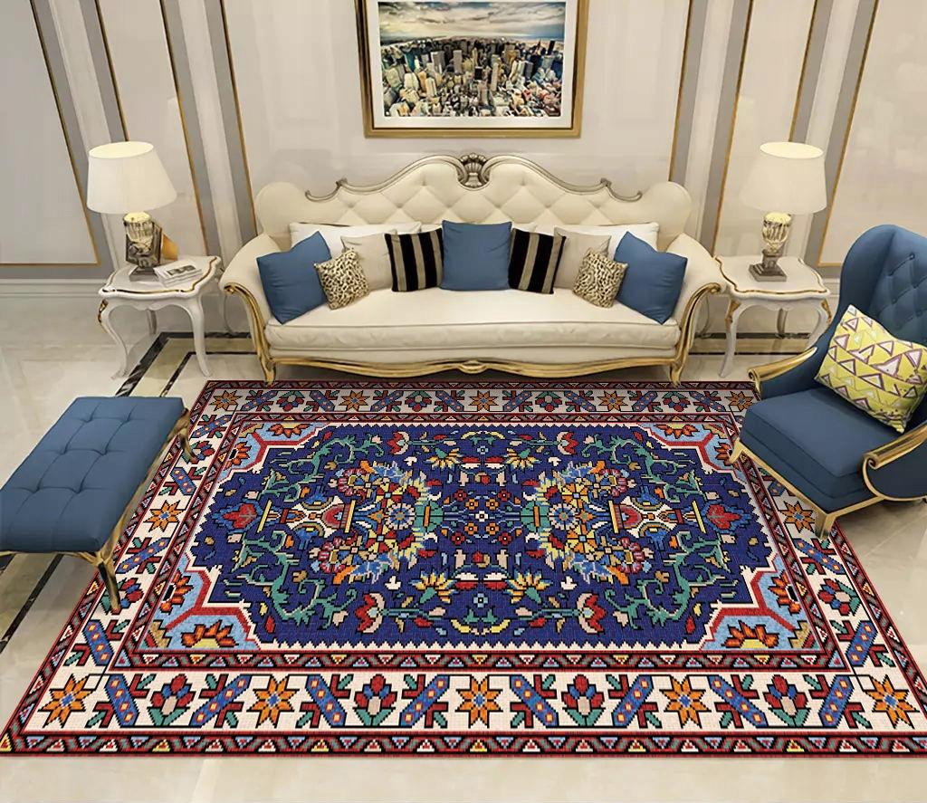 Tkaný koberec vo farbe retro, 90x160cm