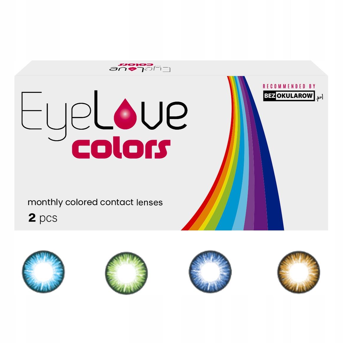 Soczewki kolorowe EyeLove Colors 2szt - korekcja