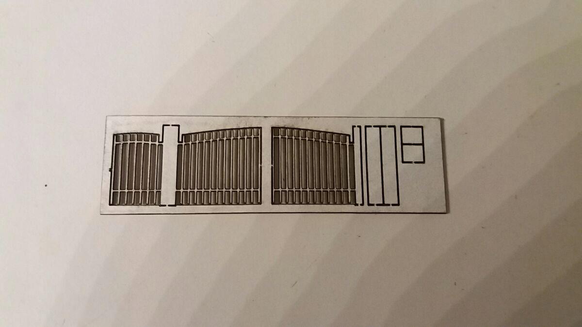 Brama wjazdowa + furtka 1:87