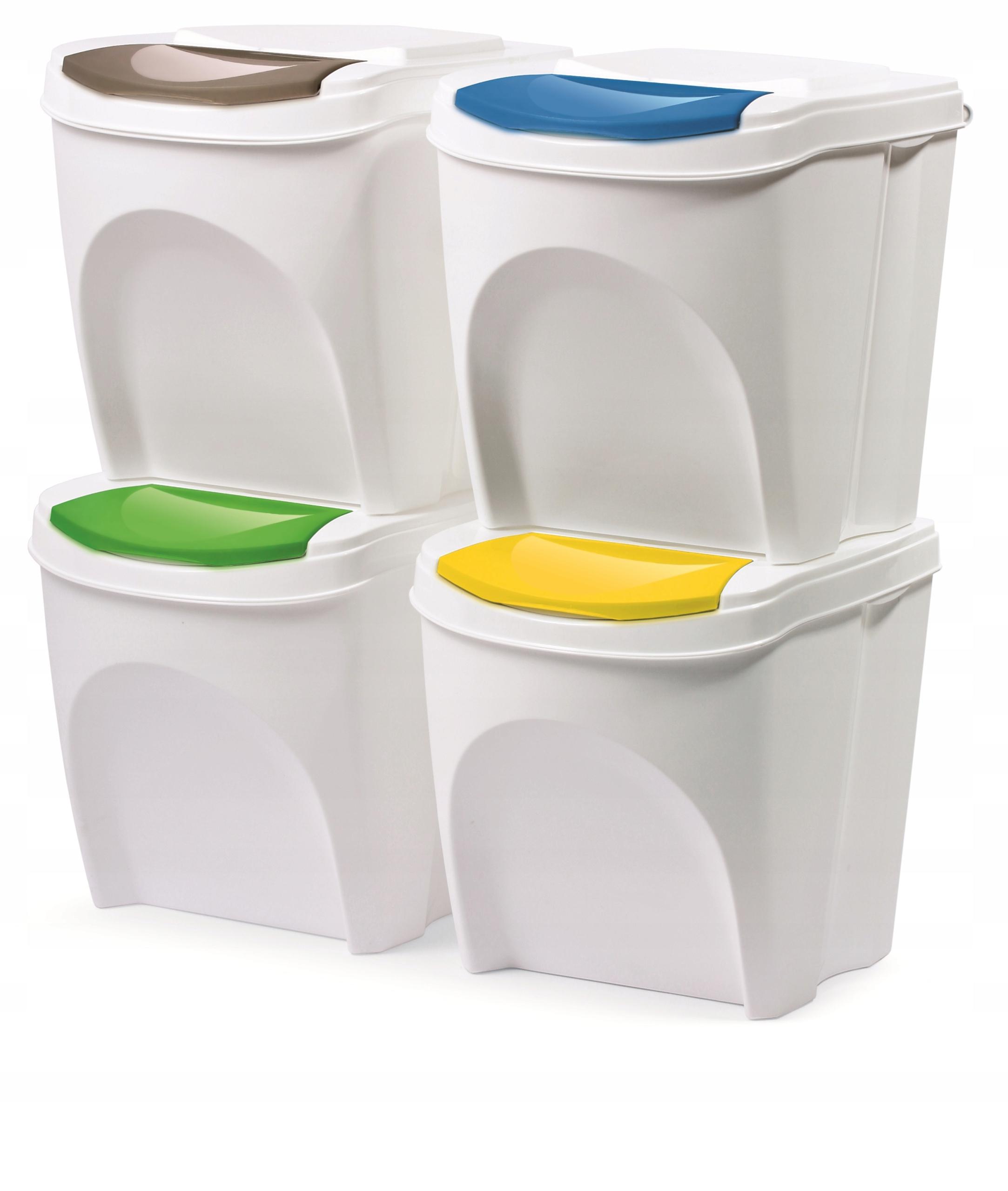 Комплект 4x КОРЗИНА для сегрегации мусора 4x20l