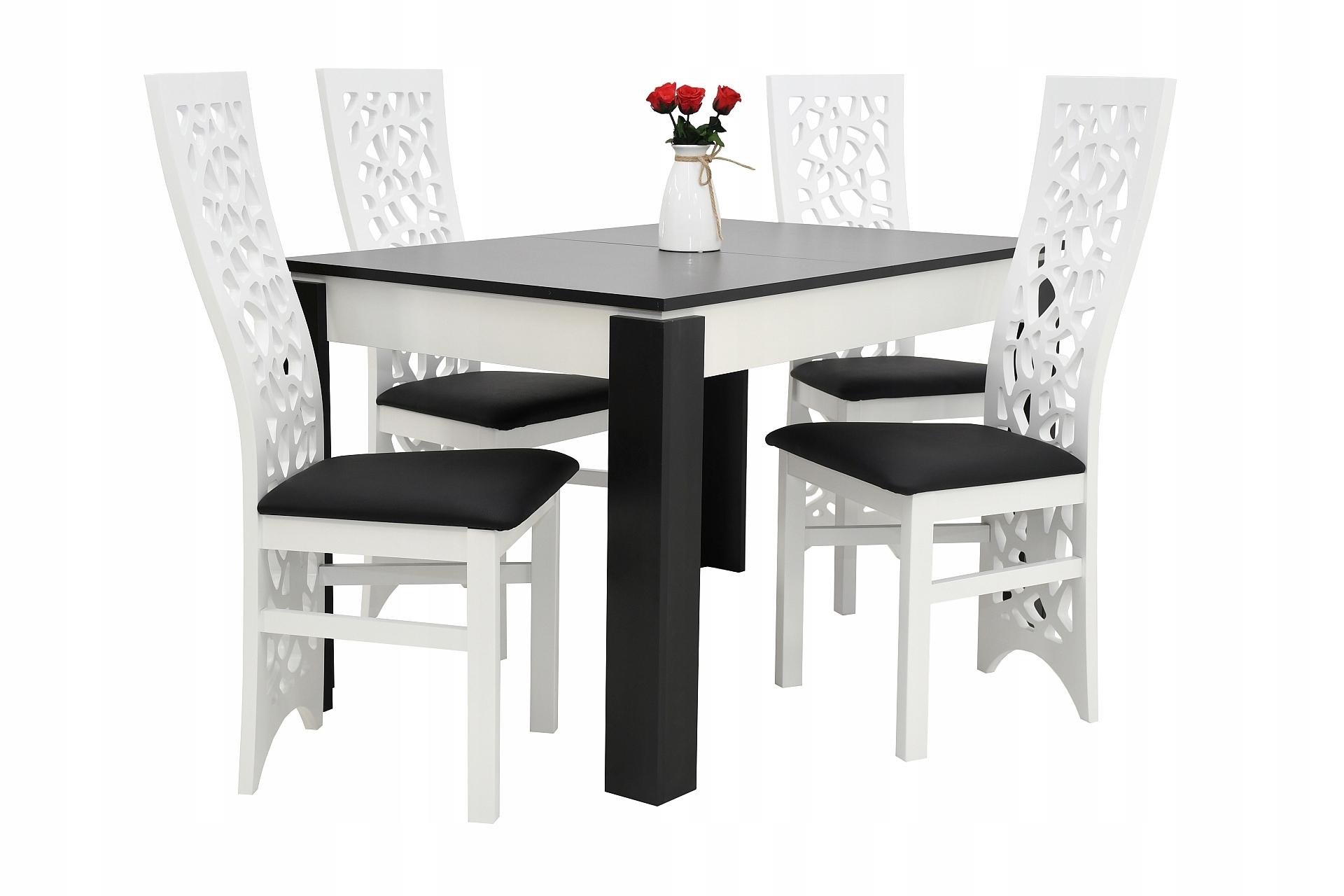 4 moderné stoličky, DREVO a tabuľka