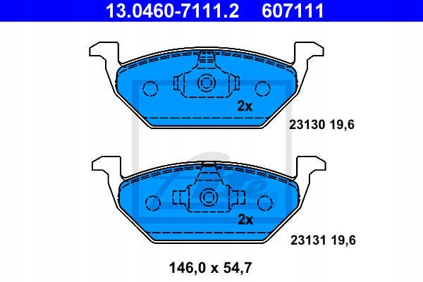 Picture of ROTORS BRAKE PADS (FRONT) ATE VW GOLF IV 1.8 T 150KM