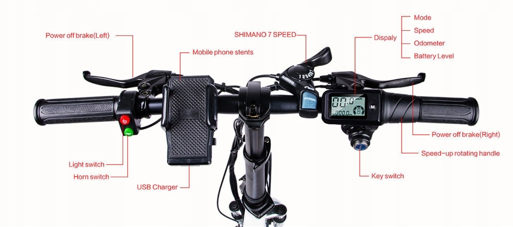 Samebike-JG20-Rower-elektryczny-250W-8Ah-Hamulce-tarczowe-mechaniczne