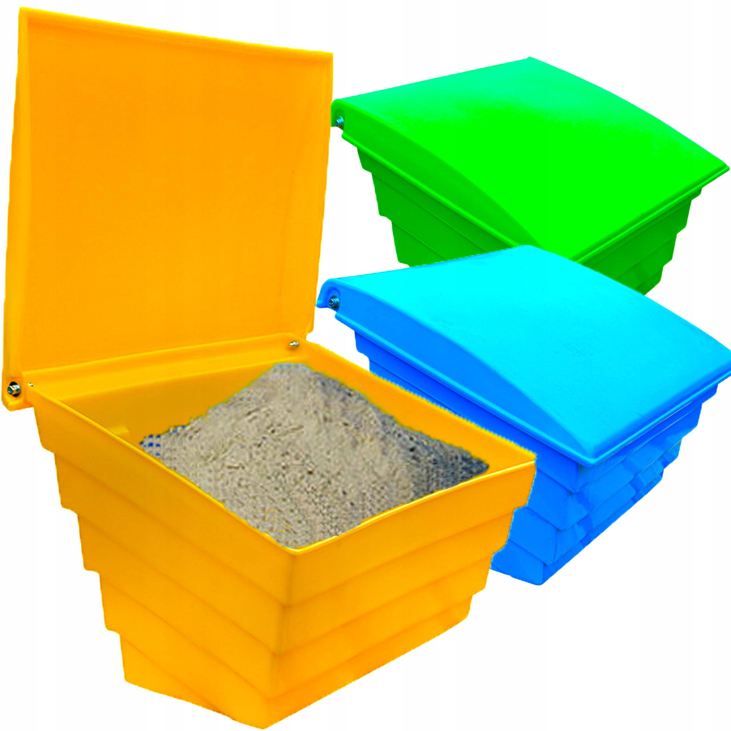 POJEMNIK na piasek sól sorbent skrzynia 70L 100KG