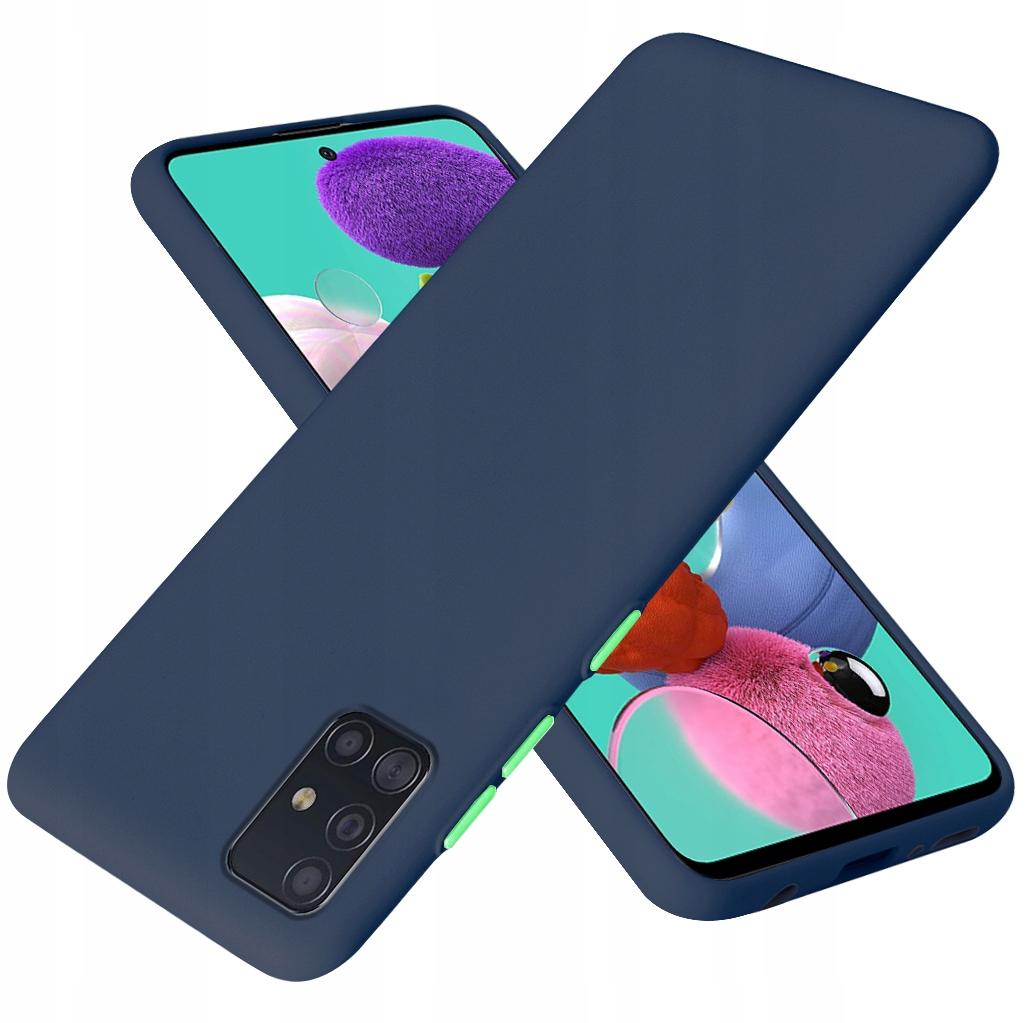 Etui do Samsung Galaxy A71 Case Silikon + Szkło 9H