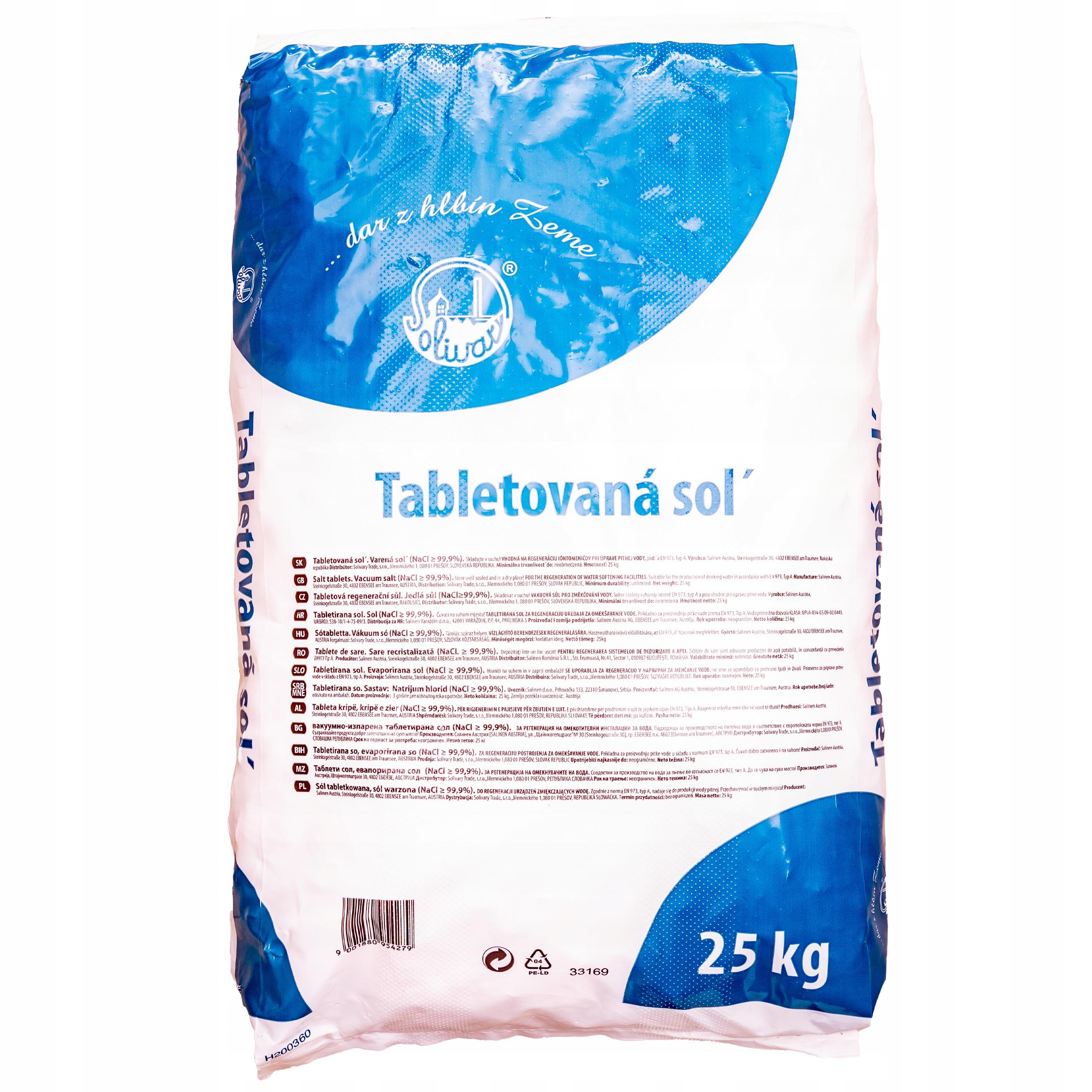 Soľ tablety soľ v tabletách pre 25 kg