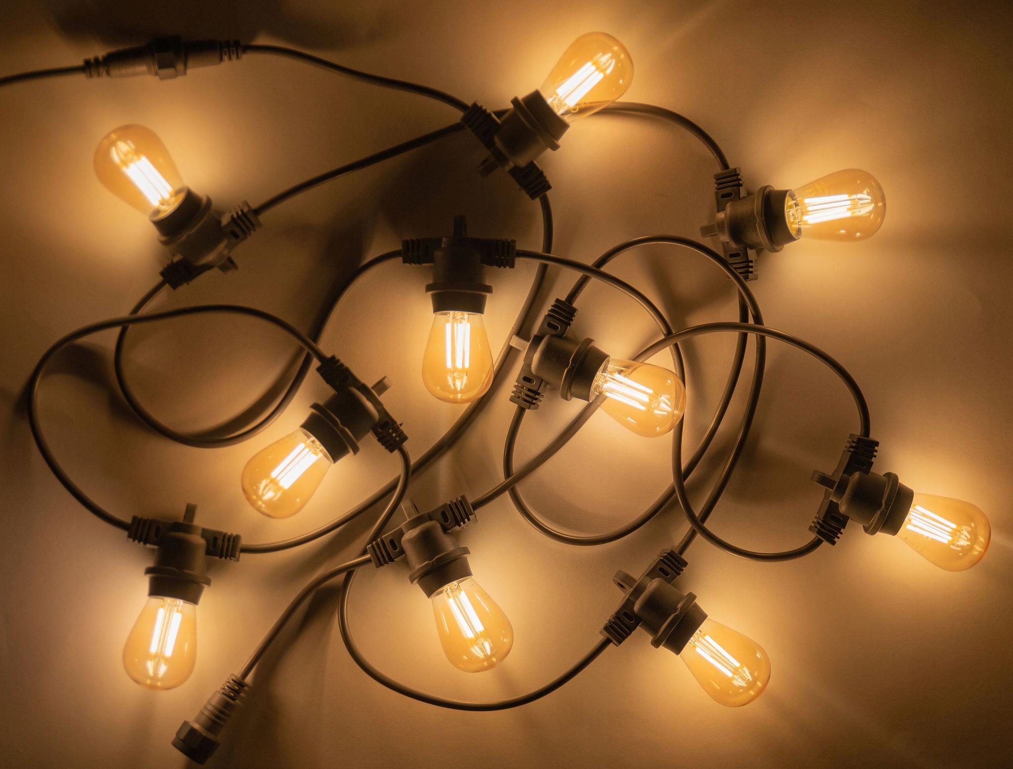 Купить Светодиодная лампа E27 1W желтая декоративная гирлянда на Otpravka - цены и фото - доставка из Польши и стран Европы в Украину.