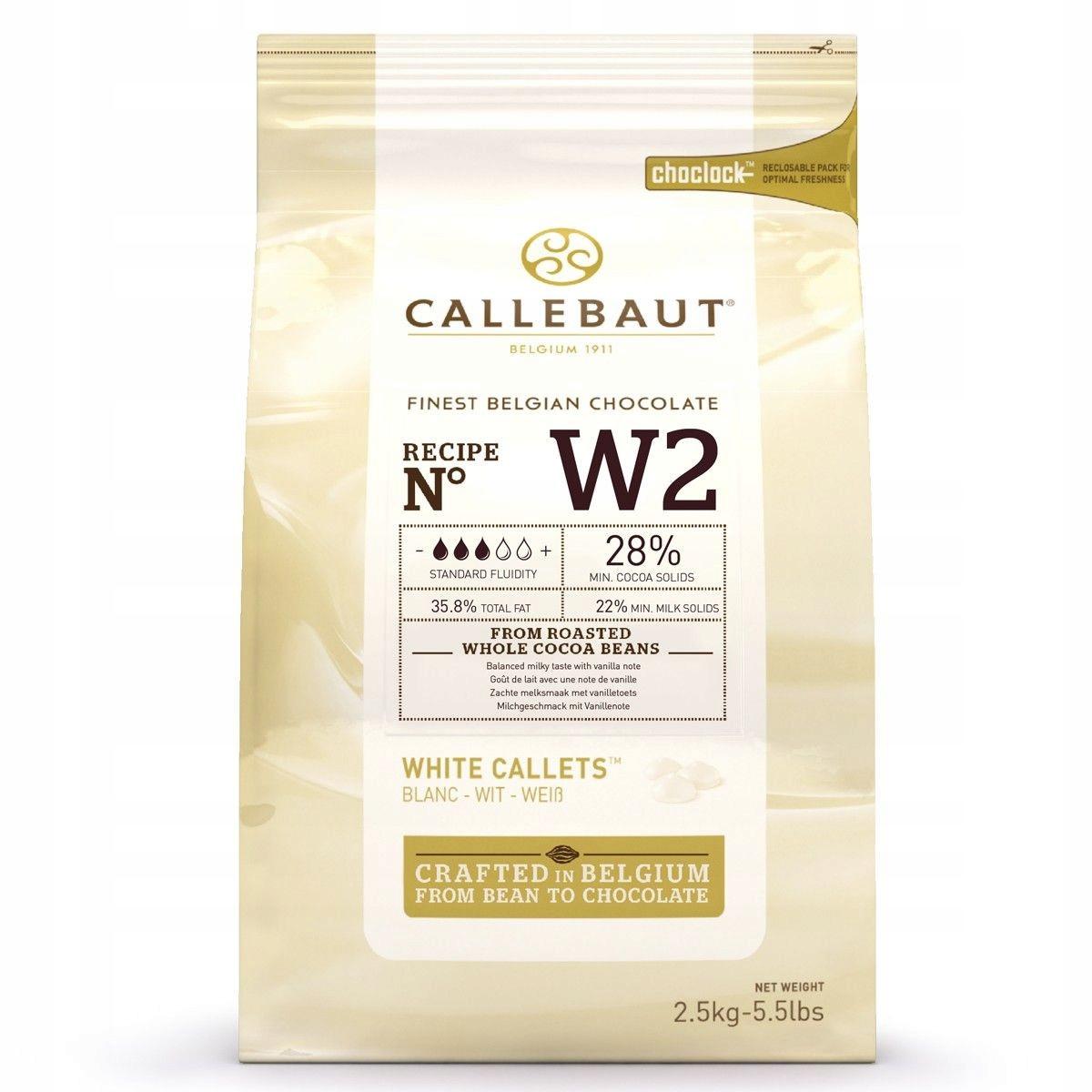 Белый шоколад Callebaut W2 2,5 кг