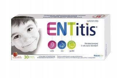 ENTitis do ssania truskawkowy x 30pastyl.