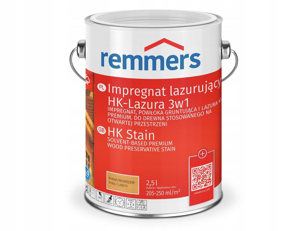 Remmers lasur 2,5 л лазурь для древесины 3 в 1 бесцветный