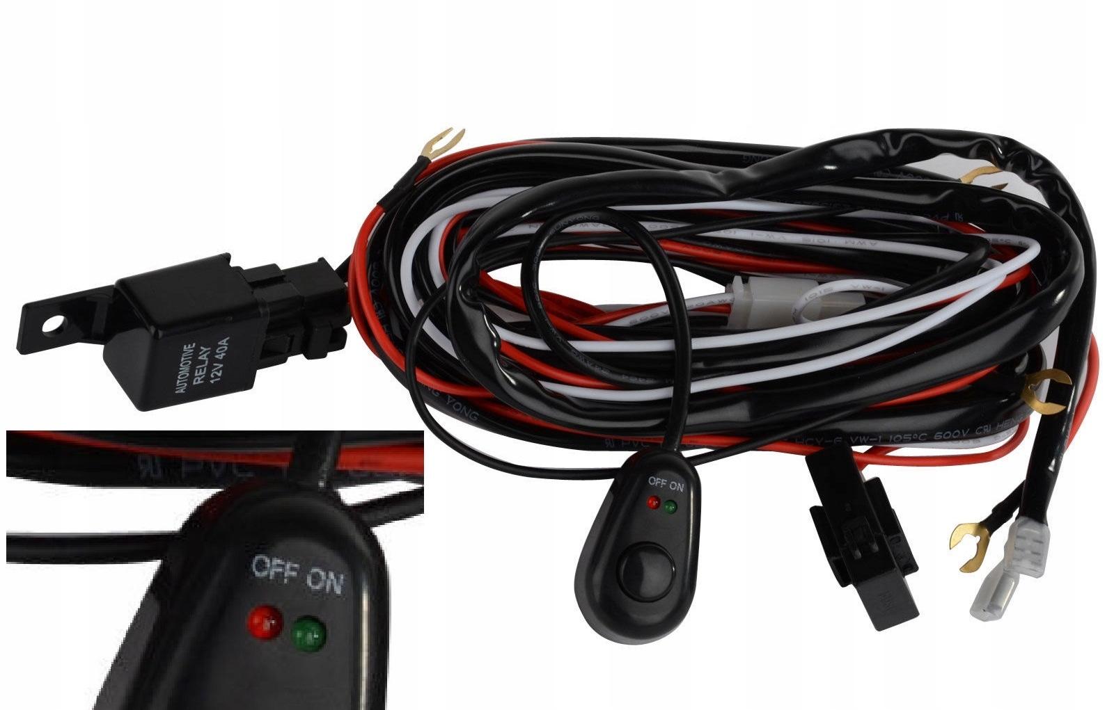 выключатель реле провода проводка галогенов