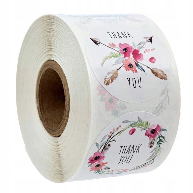 Декоративные наклейки Спасибо - дизайн 5, 500 штук