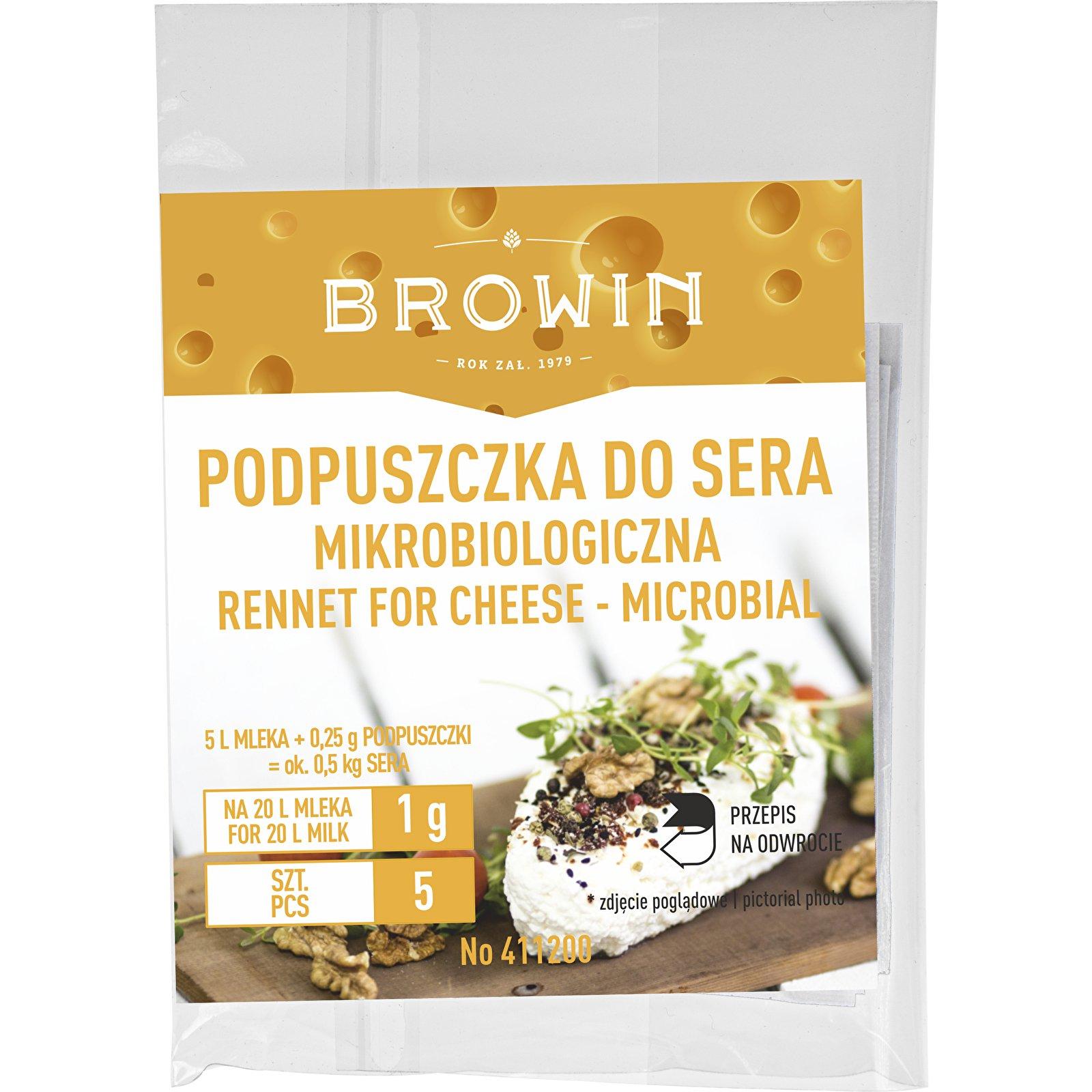 Сыр микробиологический сычужный 5х1г Browin