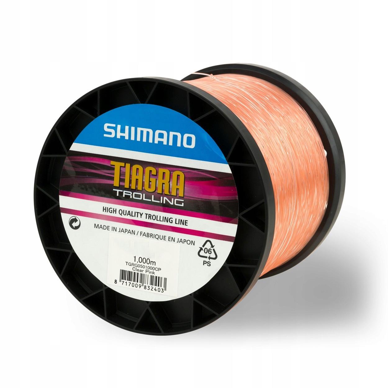 Shimano Tiagra Trolling Jasné, Ružová 0.90 mm/1000 m
