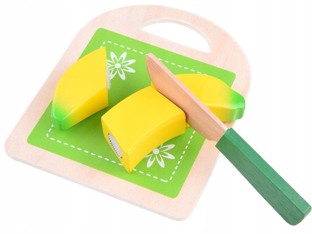 Drewniane artykuły spożywcze + deska i nóż ZA3571 Wiek dziecka 3 lata +