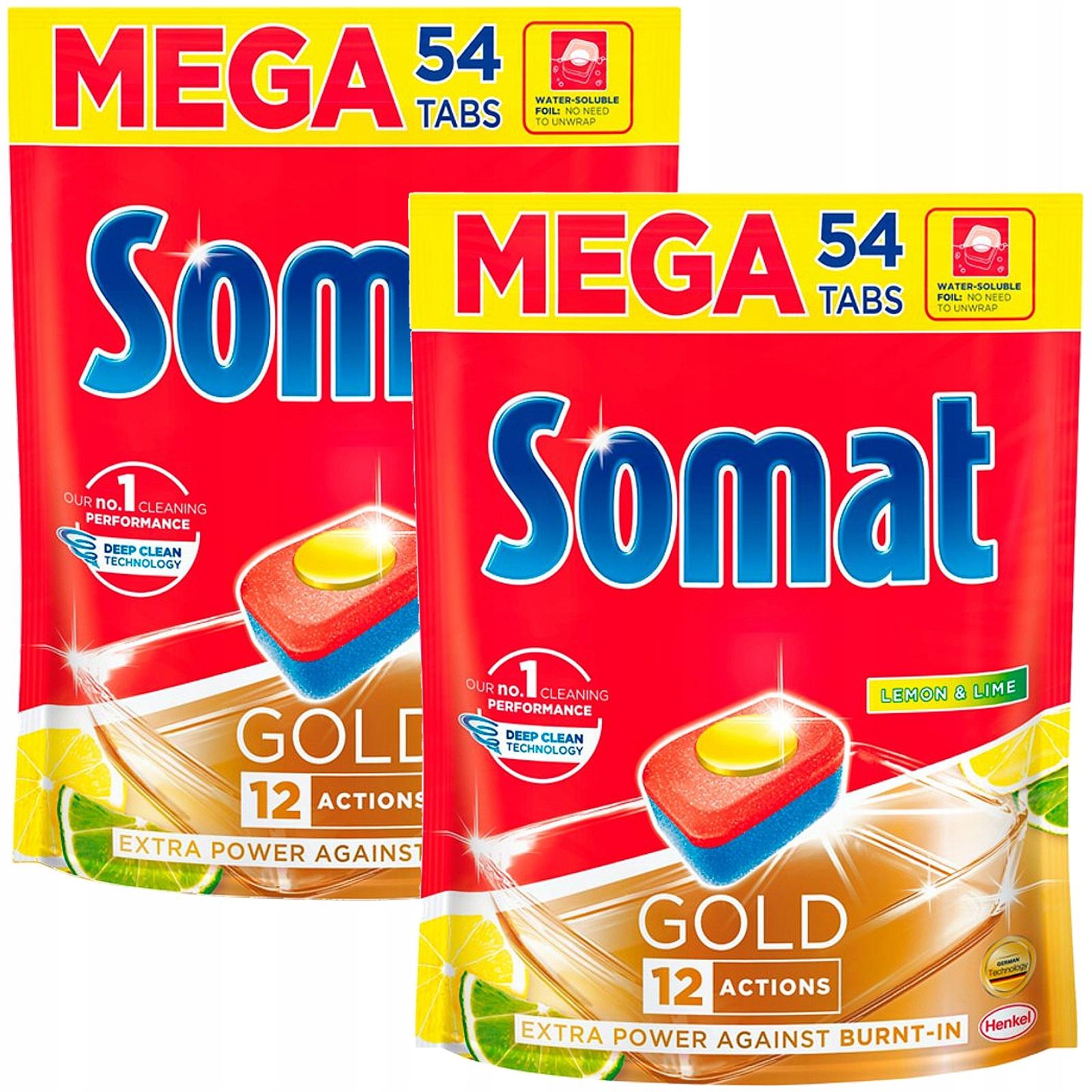 Somat Gold Lemon Lime Таблетки Mega 2 x 54 108szt