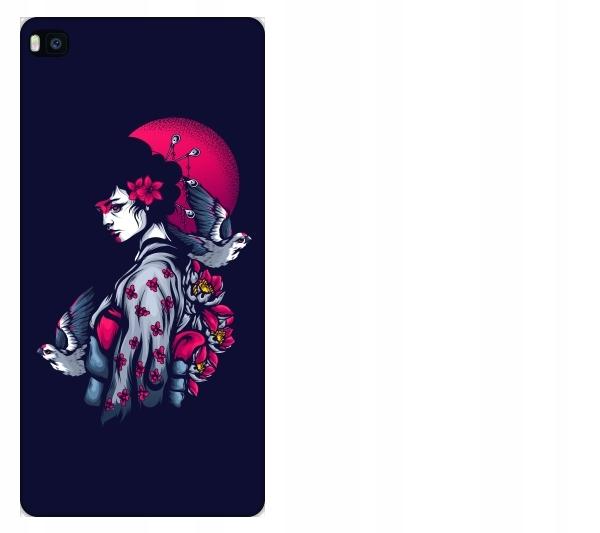 Etui pokrowiec Huawei P8 Geisha