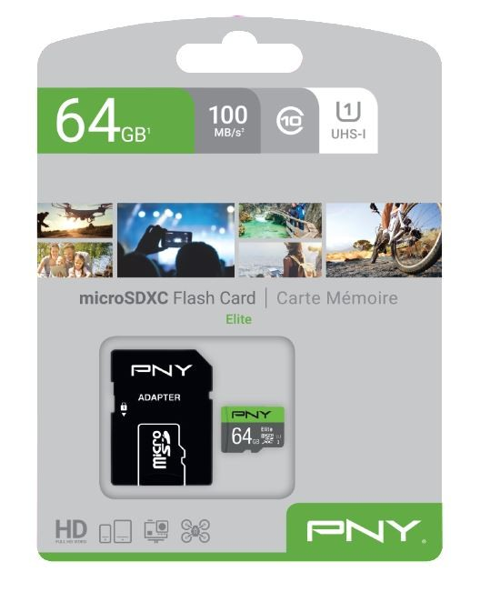 MicroSDXC Elite 64GB P-SDUX64U185GW Pamäťová karta