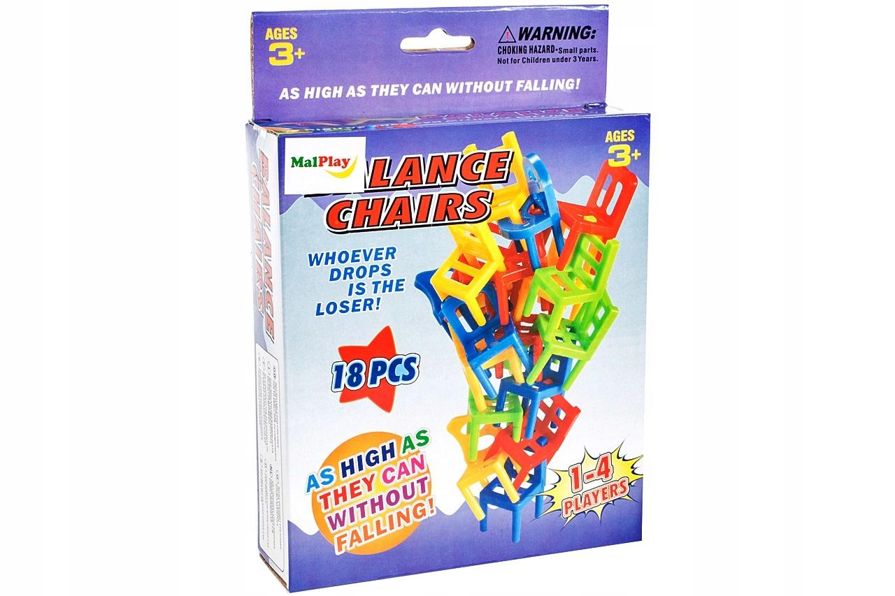 GRA Spadające Krzesła ZRĘCZNOŚCIOWA Dla 3 Graczy Minimalna liczba graczy 1