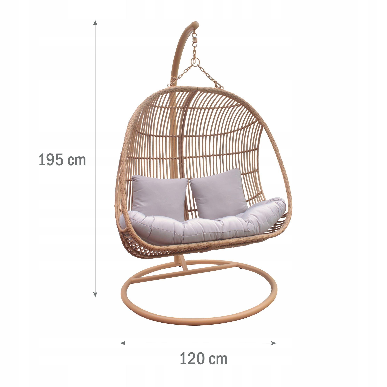 XXL Závesná záhradná stolička Hojdací kokonový košík Kód produktu MV-MB1724-DOMINICA