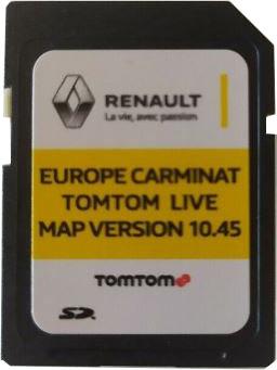 Живая карта TOMTOM CARMINAT 10.45 2020 RENAULT