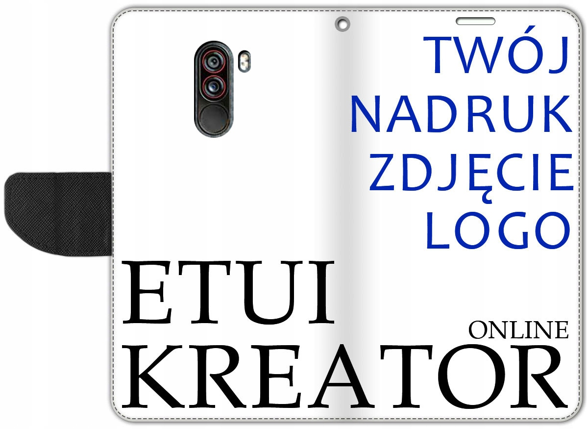 Etui Portfel Kreator Nadruk do Xiaomi Pocophone F1