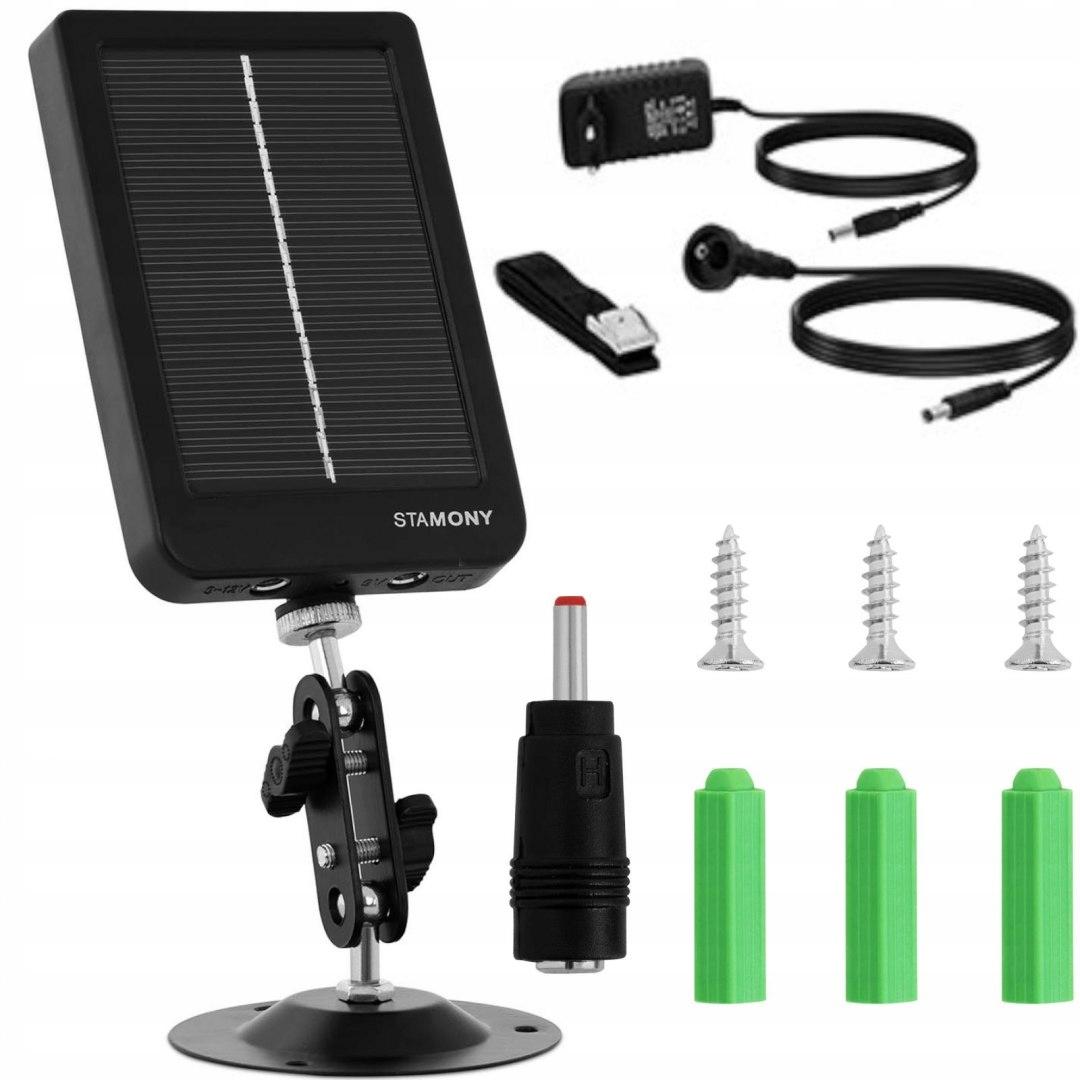 Panel zasilacz słoneczny ładowarka z akumulatorem